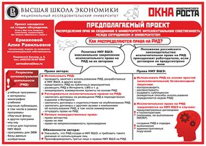 Предполагаемый проект распределения прав на созданную в университете интеллектуальную собственность (февраль 2013)