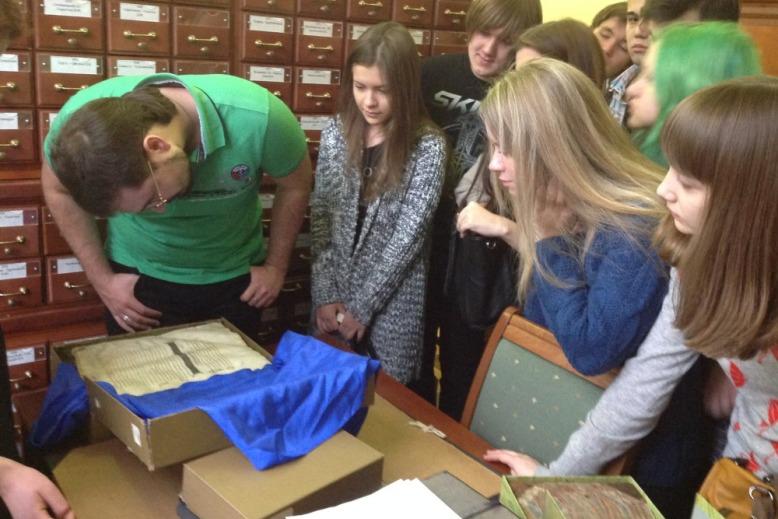 Визит в отдел рукописей Российской государственной библиотеки «Дом Пашкова»