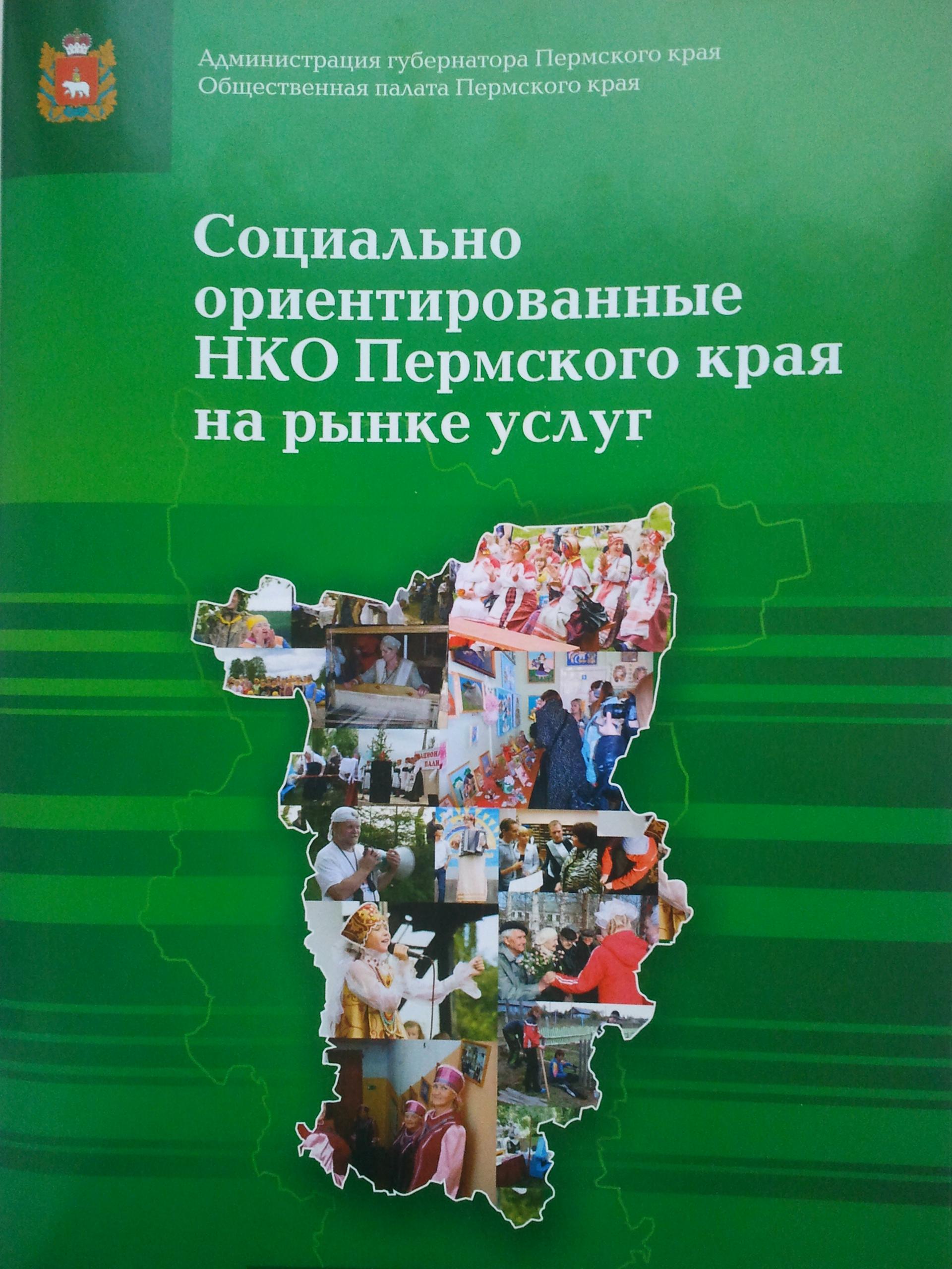 Социально-ориентированные НКО Пермского края на рынке услуг