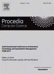 Procedia Computer Science. 2nd International Conference on Information Technology and Quantitative Management, ITQM 2014. National Research University Higher School of Economics (HSE) in Moscow (Russia) on June 3-5, 2014