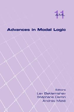Advances in Modal Logic