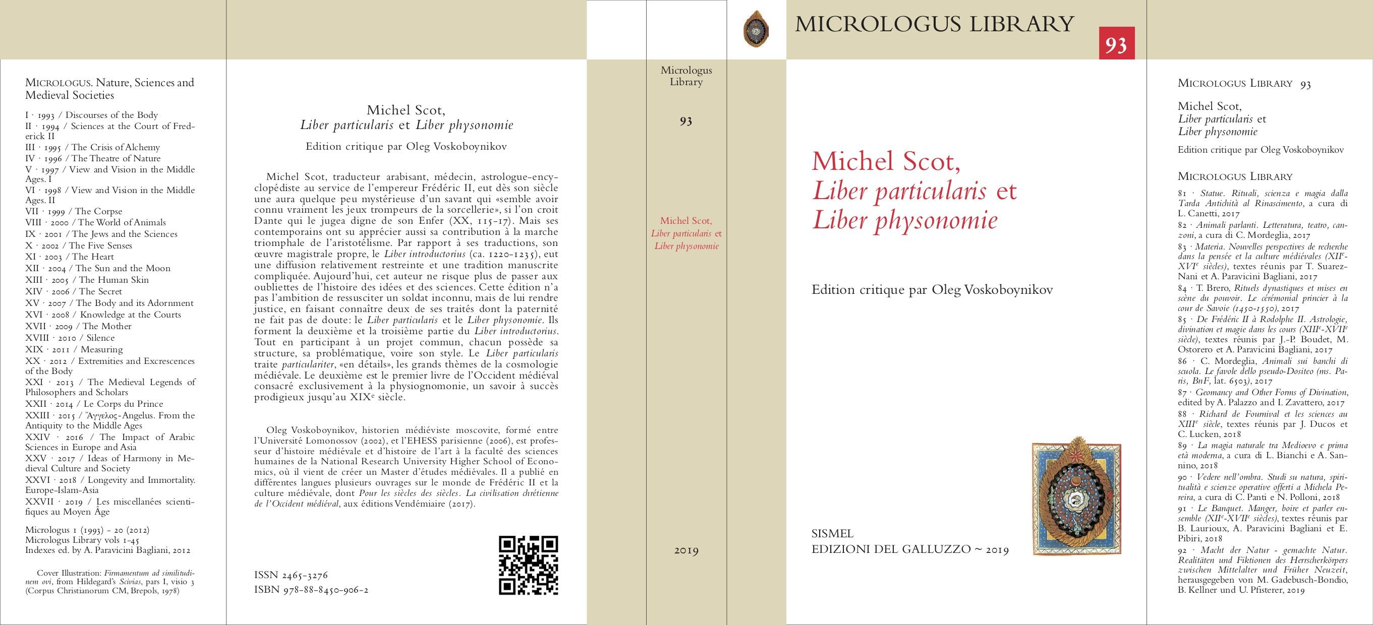 Michel Scot. Liber particularis. Liber physonomie Edition critique, introduction et notes par Oleg Voskoboynikov