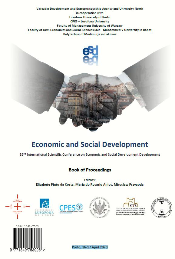 Economic and Social Development. 52nd International Scientific Conference on Economic and Social Development, Porto, 16-17 April 2020. Book of Proceedings