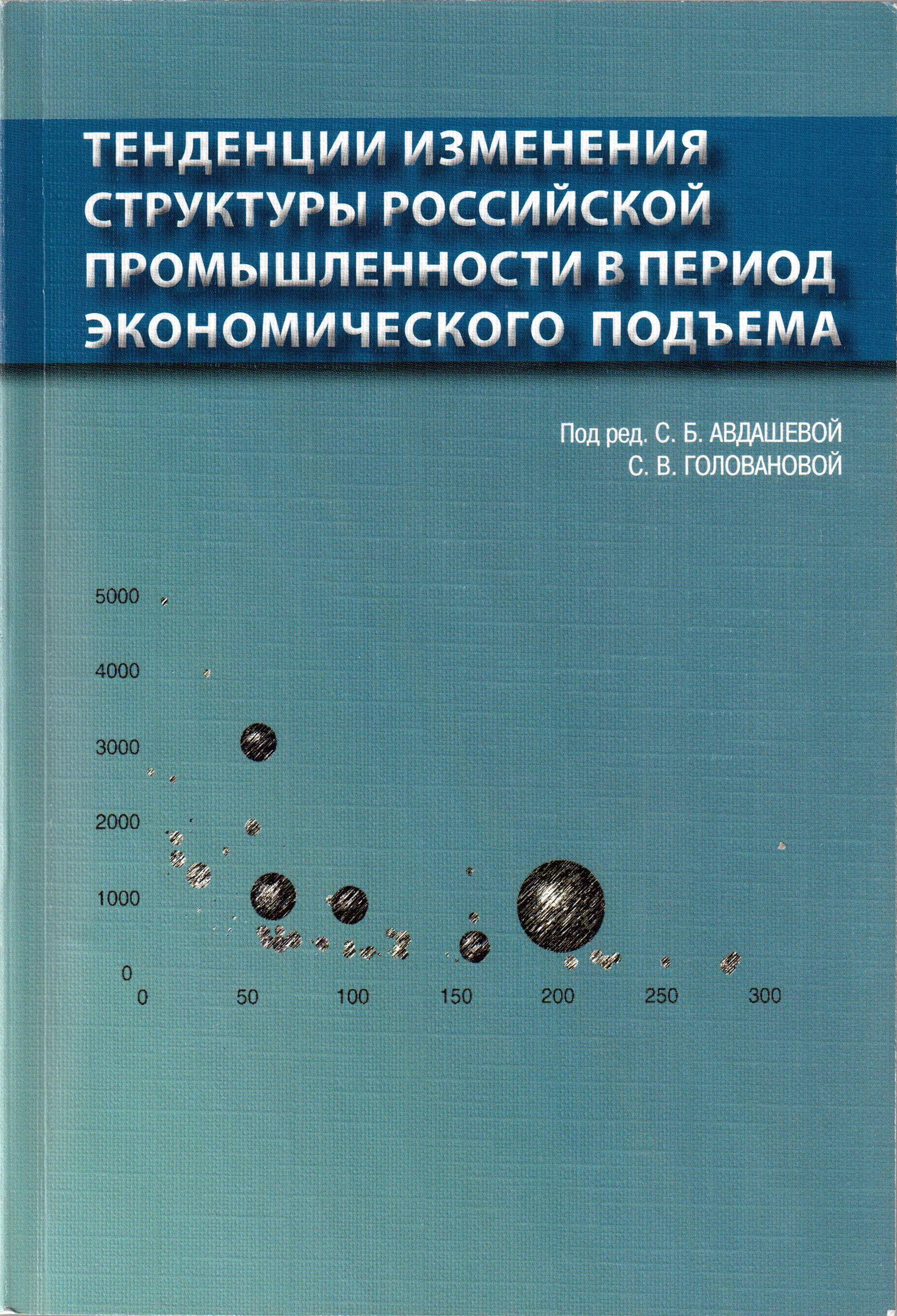 Тенденции изменения структуры российской промышленности в период экономического подъема