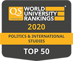 QS Rankings by subject, Politics & International Studies
