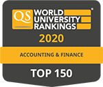 QS Rankings by subject, Accounting & Finance